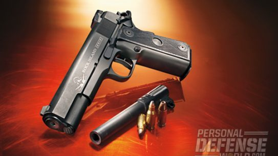 Rock Island's barrel-interchangeable .22 TCM/Micro Mag 9mm 1911 harnesses the unique power of the .22 TCM round, while also providing users with 17+1-capacity, easy-to-drop-in 9mm firepower.