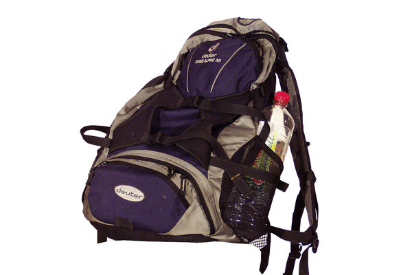 A backpack can be used as a means of self-defense. (Photo: Wikimedia Commons)