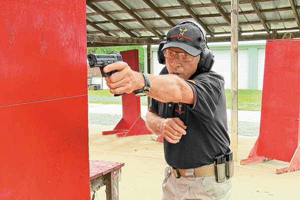 """Bill Rogers provides students with an intense five days of non-stop handgun training, which culminates in the taking of the """"Test."""""""