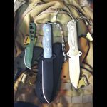 Left to Right: Chisolm's Trail ASL WASP Neck Knife, ASL 6 & ASL 5 Tactical/Survival Knives,