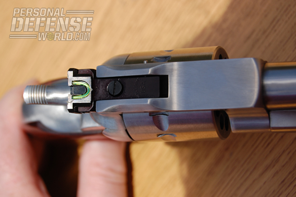The Single Nine and Single-Ten also utilize a square notch adjustable for both windage and elevation rear.
