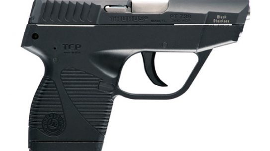 A 73-year-old homeowner used a Taurus .380 to stop an intruder.