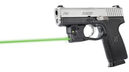 Viridian's Reactor 5 Green Laser on a Kahr P9