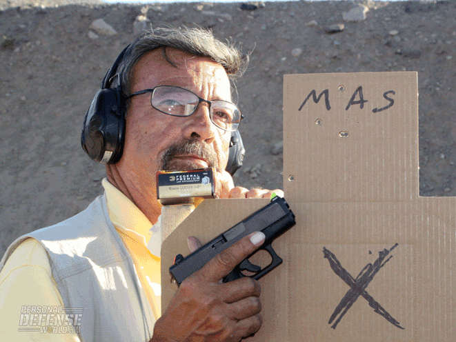 The G26 Gen4 with Firefly sights delivered five out of five headshot hits at 25 yards.