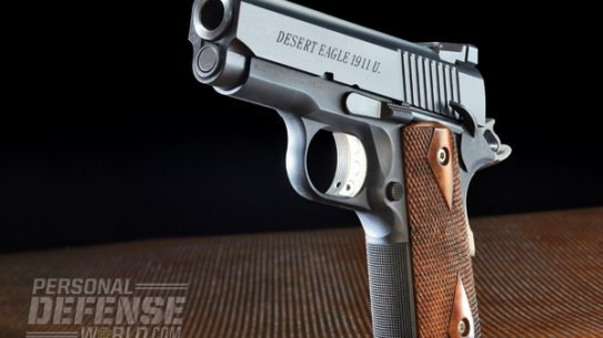"""""""The DE1911U possesses one of the best triggers of any 1911 I've tested. It breaks right at 3.5 pounds with very little creep and no overtravel."""""""
