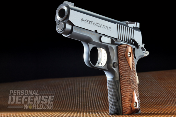 """The DE1911U possesses one of the best triggers of any 1911 I've tested. It breaks right at 3.5 pounds with very little creep and no overtravel."""