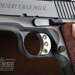 The 1911U uses a lightweight, skeletonized, serrated and travel-adjustable trigger.
