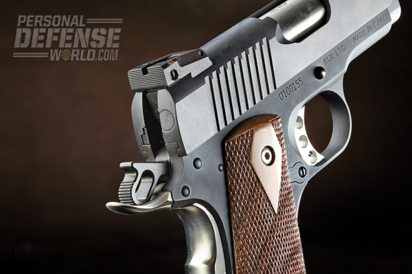 The 1911U's rear sight is adjustable for windage and elevation.