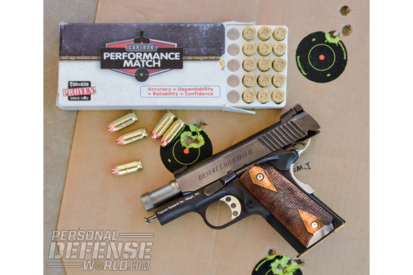 The 1911U delivered sub-2-inch groups at 15 yards with every load tested.