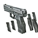 Versatility is the VP9's middle name. The gun can be outfitted with a variety of accessories, and the grip is adjustable to up to 27 different sizings.