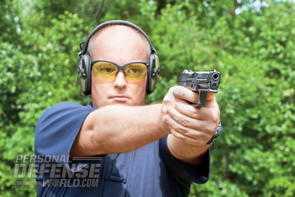 Chambered in 9mm, the full-size VP9 has very mild recoil.