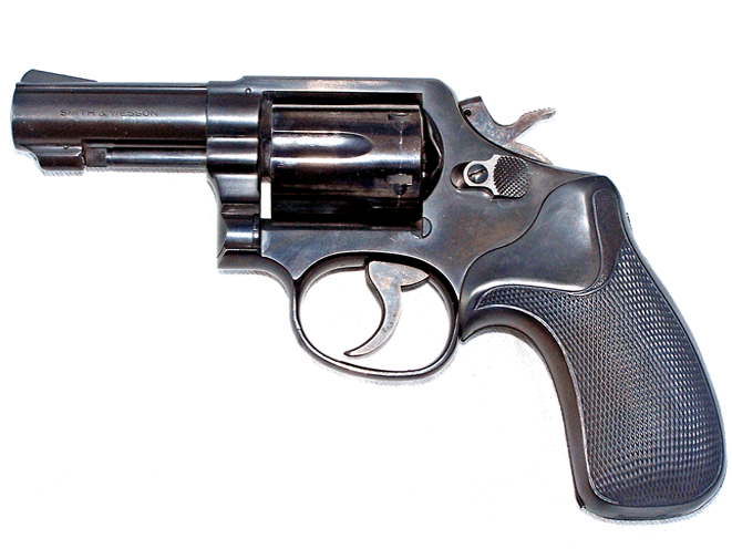 M&P revolvers with 3-inch heavy barrels, shown here with a round butt, are considered ideal concealed carry handguns by many revolver aficionados.