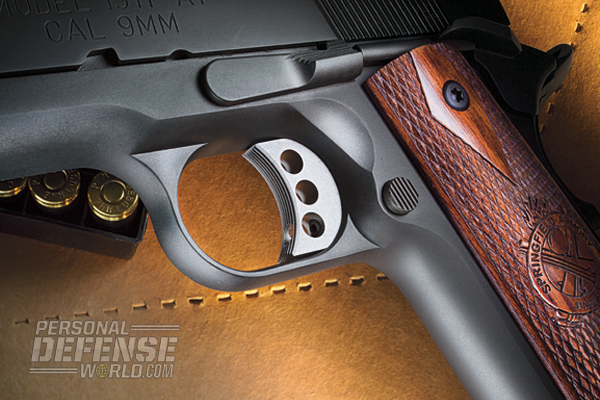 The RO 9mm features a skelotonized, match-grade trigger.