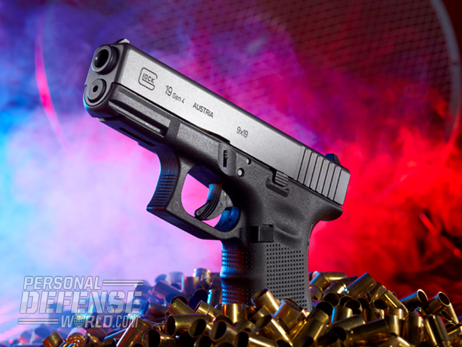 The Glock 19 Gen4 ranks high as a survival pistol because of its tank-tough reliability, 9mm chambering and concealability.