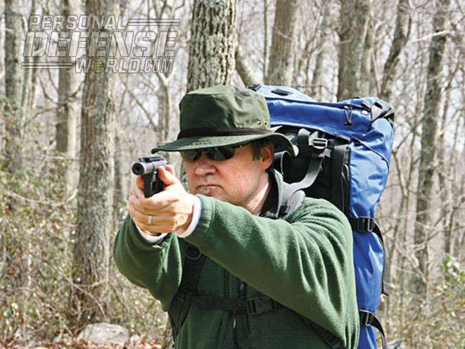 Easy operation and portability make the Ruger 22/45 a bug-out bag staple.