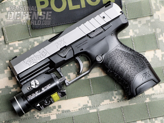 When equipped with the Streamlight TLR-2 G, the PPX makes for an excellent self-defense or duty pistol.