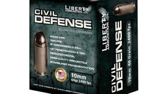 Liberty Ammunition, 10mm auto liberty ammunition, 10mm auto civil defense, liberty ammunition civil defense