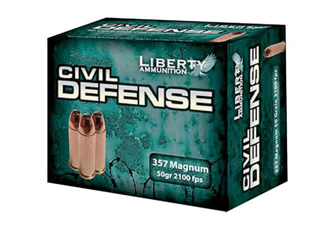 Liberty Civil Defense .357 Magnum, liberty ammunition, liberty civil defense