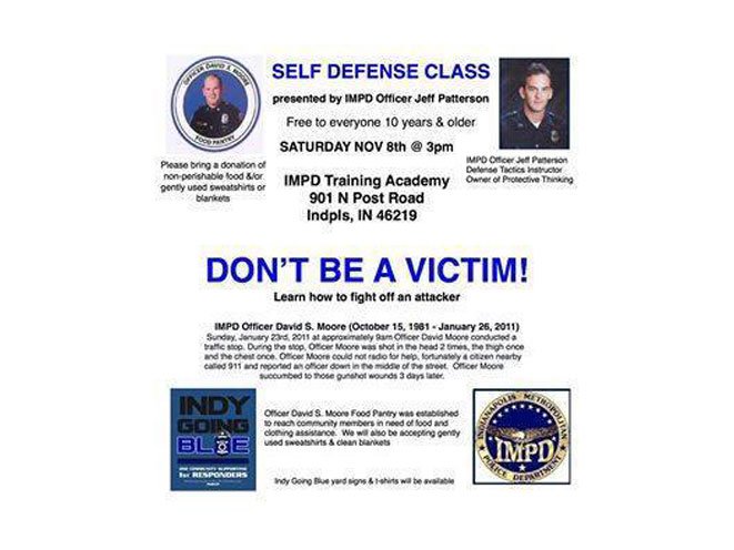 Indy Going Blue for IMPD, self-defense, self-defense indianapolis