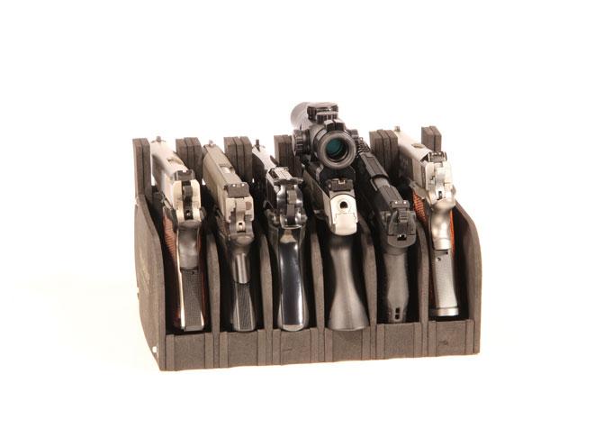 hyskore, hyskore gun rack, hyskore shooting rest, Hyskore Six Gun Modular Pistol Rack