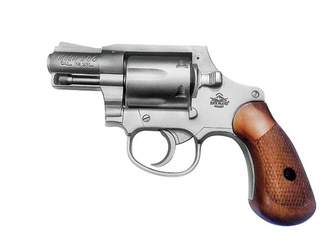 snub-nose revolver, revolvers, snub-nose revolvers, revolver, rock island armory spurless m206
