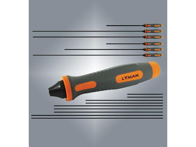 lyman, lyman products, lyman universal cleaning rod, universal cleaning rod system, lyman universal bore guide, universal bore guide