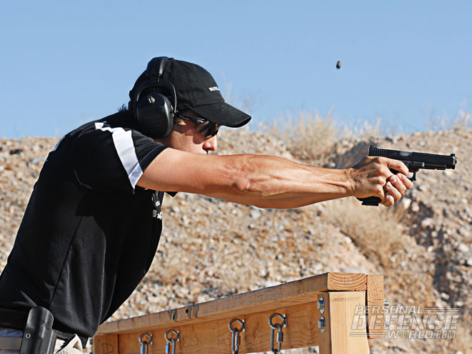 Dave Sevigny has won over 200 major championship titles and is an 11-time USPSA National Champion. Whether he's using a stock pistol or a race gun, he's a master of shooting fundamentals like a firm grip and trigger control.