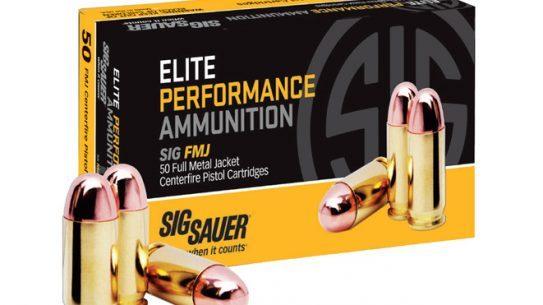 Sig Sauer SIG FMJ Ammo, sig sauer, SIG FMJ, sig sauer, sig sauer elite performance ammunition