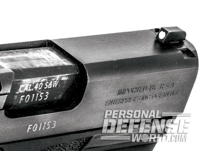 bersa, bersa pistols, bersa gun, bersa concealed carry, bersa bp40cc front sight