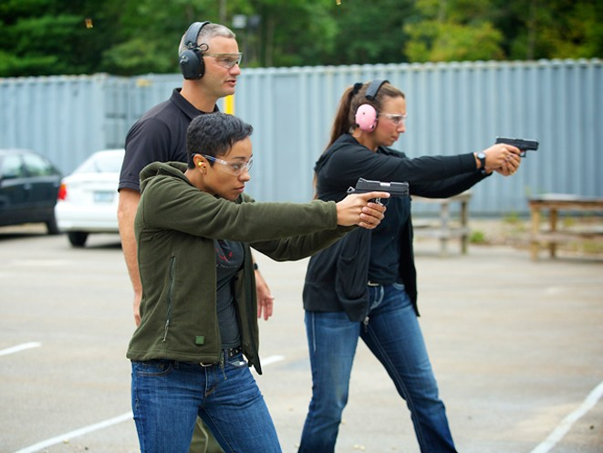 Ladies-Only Firearms Training Classes, firearms training, firearms training class, ladies-only gun training, sig sauer academy, sig sauer academy
