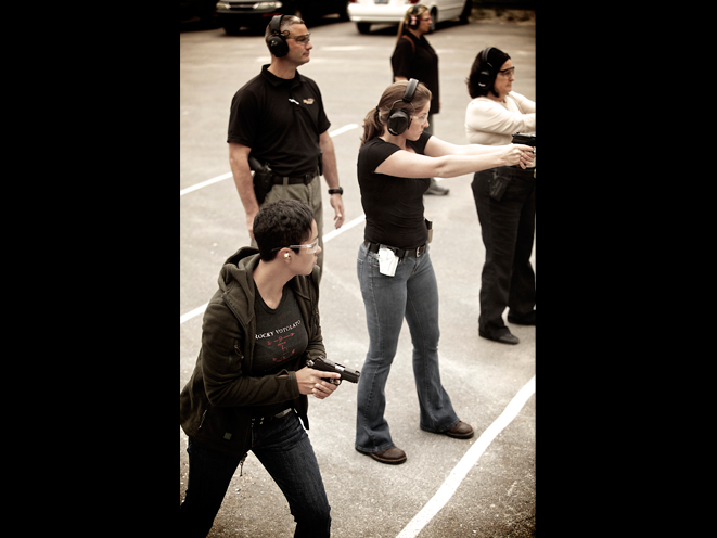 Ladies-Only Firearms Training Classes, firearms training, firearms training class, ladies-only gun training, sig sauer shooting range