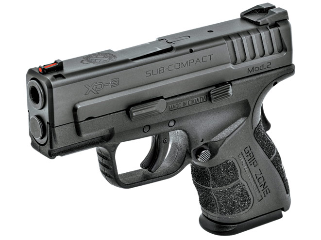 Springfield's latest XD Mod.2 series is available in 9mm, .40 S&W and .45 ACP. The subcompact pistols are ideal for concealed carry and home protection.