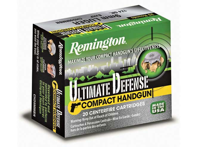 self-defense ammo, self-defense ammunition, ammo, ammunition, remington ultimate defense compact