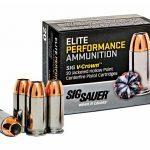 self-defense ammo, self-defense ammunition, ammo, ammunition, sig sauer elite performance ammunition