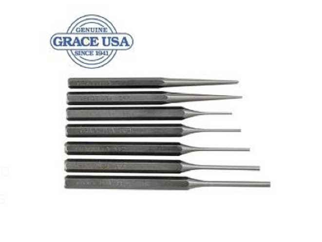 Grace USA 7 Piece Steel Punch Set, midwest gun works