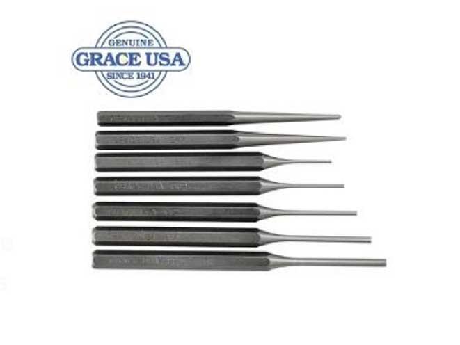 Grace USA 7 Piece Steel Punch Set, midwest gun works