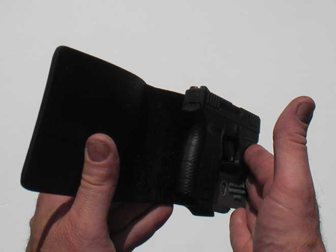 kevin's concealment holsters, kevin's concealment, kevin's concealment wallet holster, wallet holster, kevin's concealment wallet holster profile