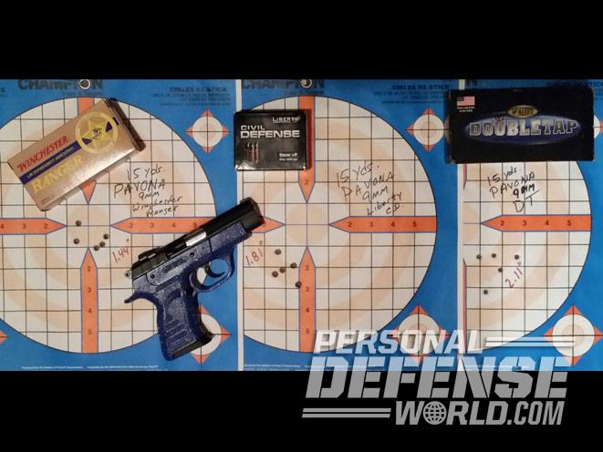 EAA Witness Pavona, pavona, european american armory, EAA witness pavona pistol, EAA witness pavona target