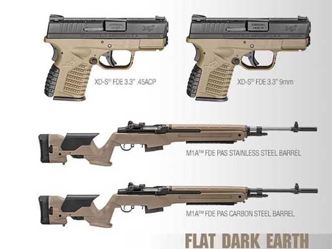 springfield armory, springfield armory flat dark earth, flat dark earth, m1a rifle, loaded m1a, xd-s pistol, xd-s 3.3