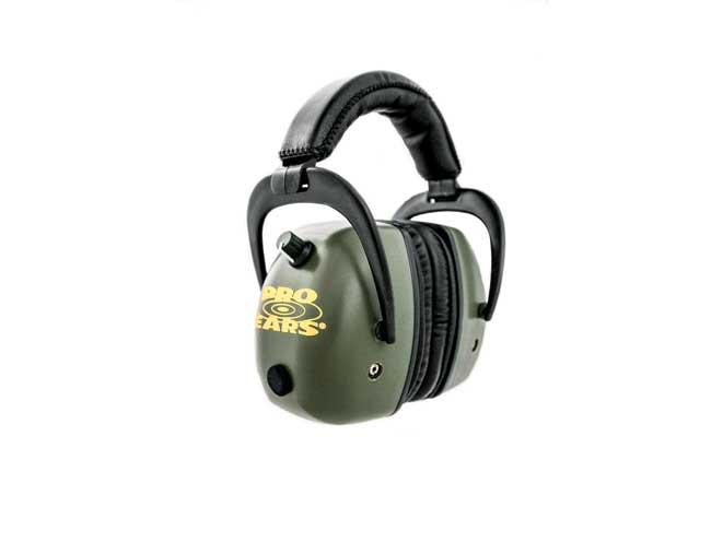 ear, earmuffs, hearing protectors, earplugs, pro ears pro mag gold