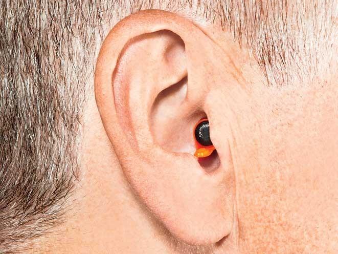 ear, earmuffs, hearing protectors, earplugs, sound gear in the canal
