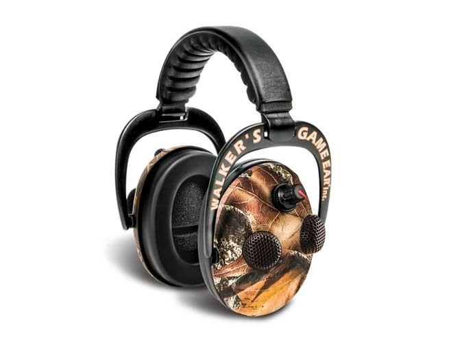 ear, earmuffs, hearing protectors, earplugs, walker's elite power muff quad