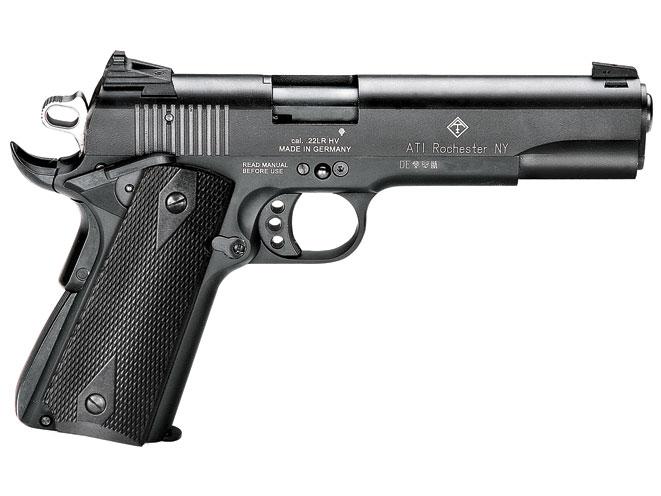 rimfire, rimfires, rimfire guns, rimfire gun, rimfire handguns, rimfire handgun, american tactical GSG M1911
