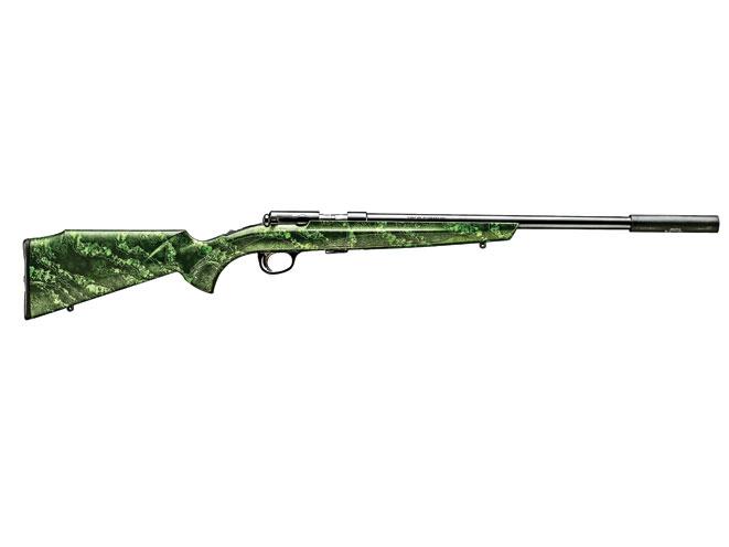 rifles, rifle, rimfire rifle, rimfire rifles, rimfire gun, rimfire guns, .22 rimfire rifle, .22 rimfire rifles, browning t-bolt varmint green reaper
