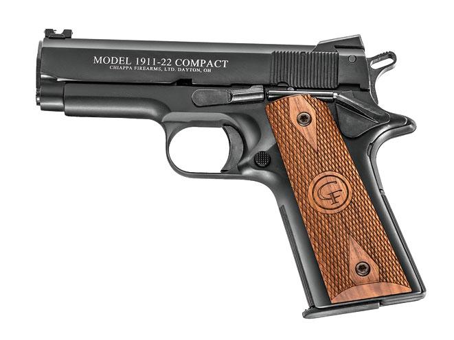 rimfire, rimfires, compact rimfire handguns, compact rimfire handgun, rimfire handgun, rimfire handguns, Chiappa 1911-22 Compact