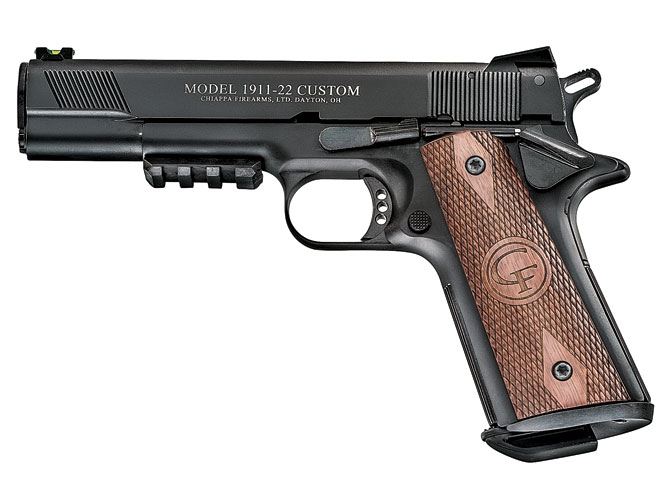 rimfire, rimfires, rimfire guns, rimfire gun, rimfire handguns, rimfire handgun, chiappa 1911-22 custom