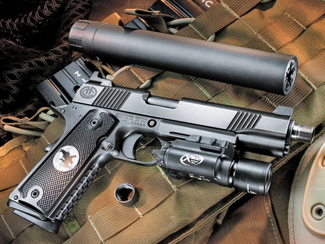 threaded barrel, threaded barrel pistol, threaded barrel pistols, Nighthawk Custom AAC Recon