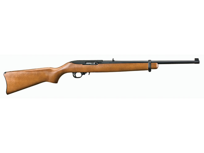 Ruger's 10/22 is one of the most popular semi-automatic .22 LRs in America. It's great for hunting or plinking and can easily be customized for competition.