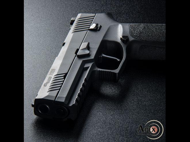 sig sauer p320, apex flat-faced action enhancement trigger, apex sig sauer trigger, apex sig sauer p320 trigger