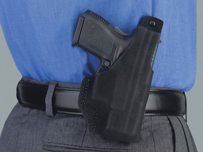 galco, galco gun leather, paddle lite holster, paddle lite holster in use